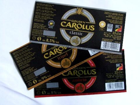 Etiketten GoudenCarolus